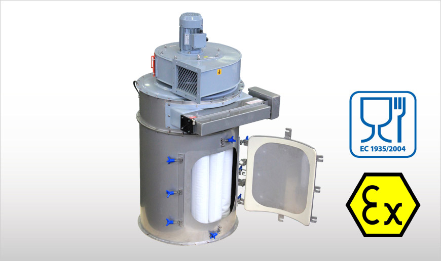 Flanged Round Food-Grade Dust Collectors